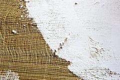 smeer de grond op het canvas textuur voor kunstenaars royalty-vrije stock foto