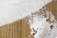smeer de grond op het canvas textuur voor kunstenaars royalty-vrije stock afbeelding