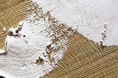 smeer de grond op het canvas textuur voor kunstenaars royalty-vrije stock fotografie