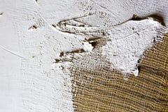 smeer de grond op het canvas textuur voor kunstenaars stock foto