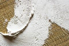 smeer de grond op het canvas textuur voor kunstenaars royalty-vrije stock foto's