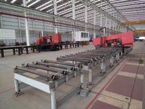 Smeermiddel van het de baraluminium van het lintzaag het scherpe staal royalty-vrije stock foto's