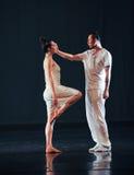 Smekning-dans musikalröd linje arkivfoton