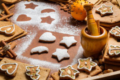 Smell of Christmas cakes stock photography