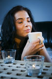 Smell of coffee Royalty Free Stock Photography