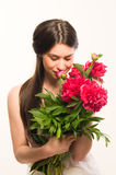 Smell the flowers Stock Photography