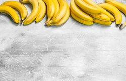 The smell of fresh bananas royalty free stock images
