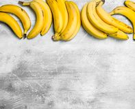 The smell of fresh bananas royalty free stock image