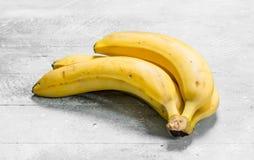 The smell of fresh bananas stock image