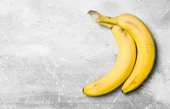 The smell of fresh bananas stock photography