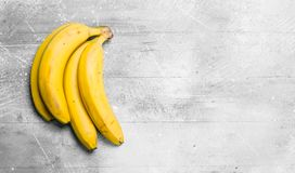 The smell of fresh bananas stock photo