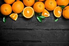The smell of fresh oranges stock photos