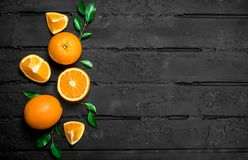 The smell of fresh oranges royalty free stock photos