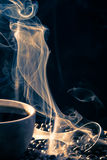 Smell of good cofee from a cup Royalty Free Stock Photo