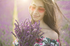 Smell of lavender  bouquet. Royalty Free Stock Image