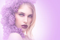 The smell of lilacs Royalty Free Stock Photography