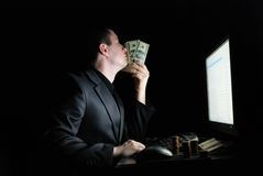Smell of money Royalty Free Stock Images