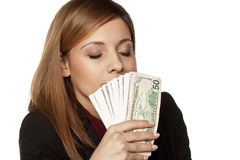The smell of money stock photography