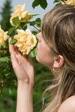Smell of roses Royalty Free Stock Photo