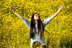 The smell of Spring rejoicing Royalty Free Stock Photo