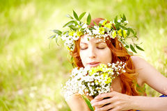 Smell of summer in nature Stock Images