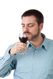 Smell the Wine Royalty Free Stock Images