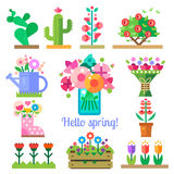 smellcomp магазина иллюстрации цветка Здравствуйте! весна и лето Стоковые Фотографии RF