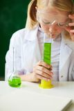 Smelling liquid Stock Photography