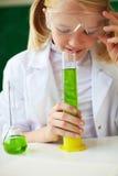 Smelling liquid Stock Image