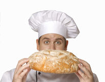 Smelling my bread Stock Photography