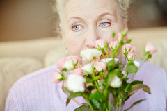 Smelling roses Royalty Free Stock Photography