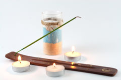 Smelling stick and candles Royalty Free Stock Photos