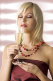 Smelling wine Stock Image