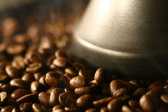 Smells of coffee Grains Stock Photos