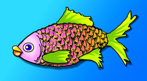 Smells fishy. Colorful rendering of a cartoon fish stock illustration