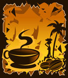 Smells goooood!!!. Illustration of a hot cup of coffee Royalty Free Stock Photo