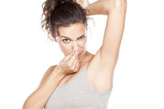 Smelly armpits Royalty Free Stock Images