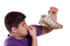 Smelly athletischer Schuh stockfotografie
