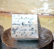 Smelly Gorgonzola cheese typical of Italy on sale in the local m Royalty Free Stock Images