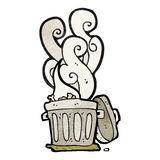 smelly old bin cartoon Royalty Free Stock Photos