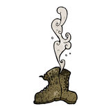 Smelly old boots cartoon Stock Photo