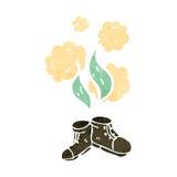 smelly old shoes retro cartoon Stock Photos