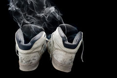 Smelly old sneakers Royalty Free Stock Image