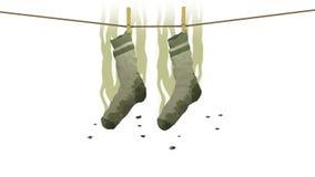 Smelly socks, 3d illustration Stock Photography