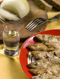 Smelt. Traditional Russian fish -smelt in flour crust appetizer Stock Photography