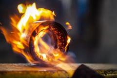 Smelten van metaal royalty-vrije stock foto