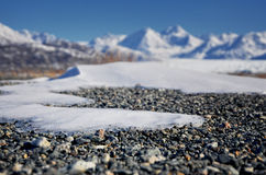Smeltend Gletsjerlandschap Van Alaska Stock Afbeeldingen