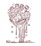 Smeltend hart royalty-vrije illustratie