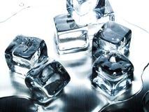 Smeltend ijsblokje royalty-vrije stock foto