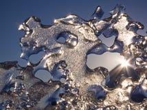 Smeltend overzees ijs met zonnestraal stock afbeeldingen